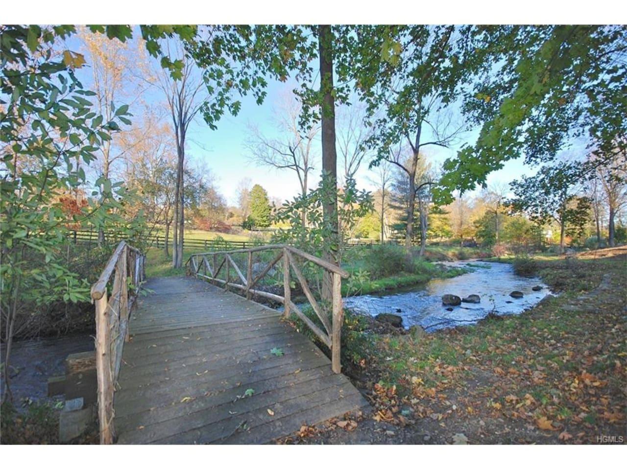 River w/ footbridge