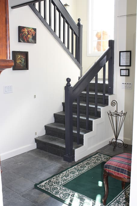 Entry way with stair to second story