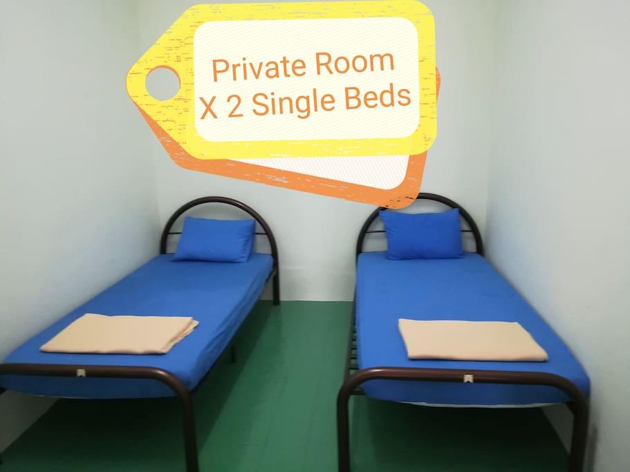 Private Room X 2 Single