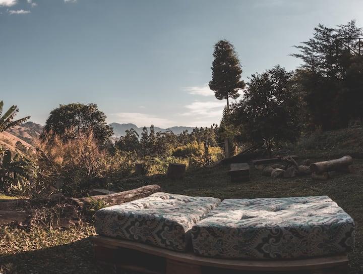 Casa na montanha com Hidromassagem e Lareira