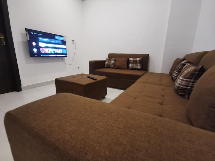 Apartment with basic amenities.