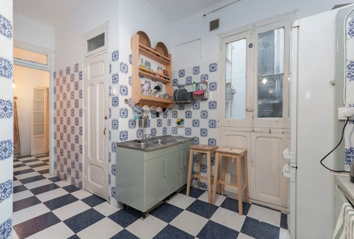Boho apartment, single bedroom + private living - Madrid - Appartement