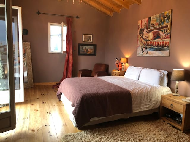 Master bedroom suite with en-suite bathroom and shower and private ocean view balcony.
