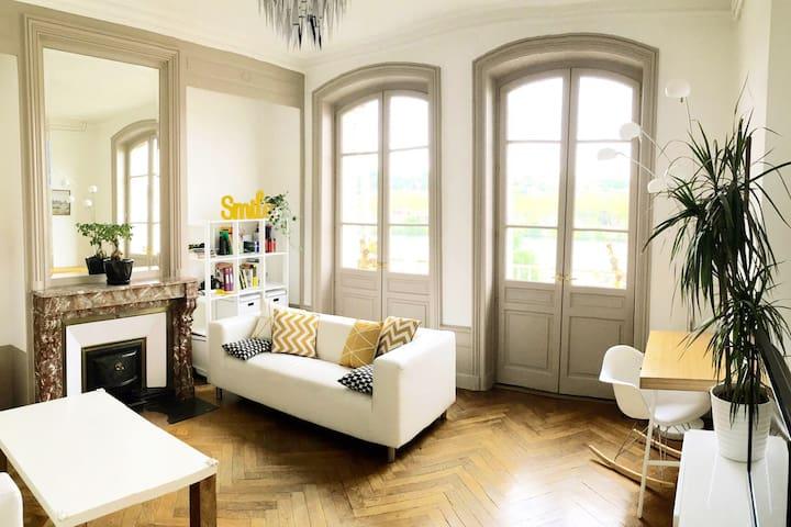Maison avec vue sur Saône et jardin - Albigny-sur-Saône - 一軒家