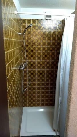 Eigene Dusche im Zimmer