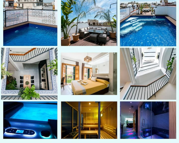 Unique House - SPA&POOL Private -StayInSeville 3Be