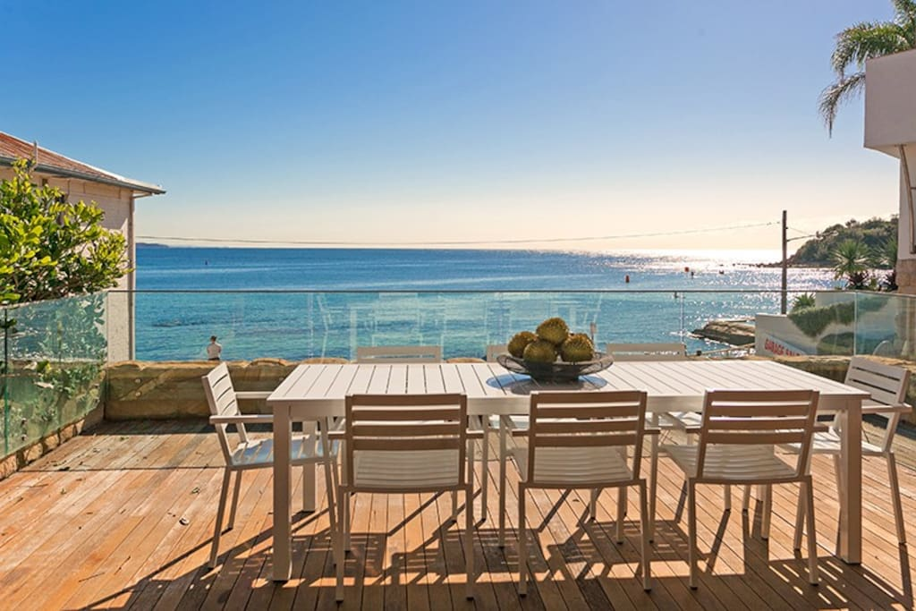 This is your stunning deck just minutes walk to Manly and Shelley beach.