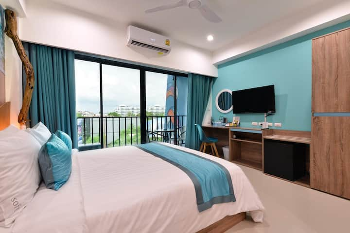 Private room 1 bd+bath 28 sqm + Gym -Jomtien beach