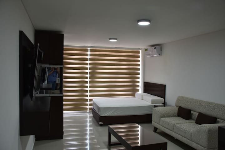 Modern studio apartment in Equipetrol, Santa Cruz