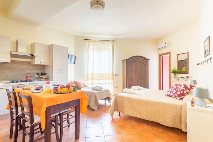Luminoso appartamento Villamarì Castello