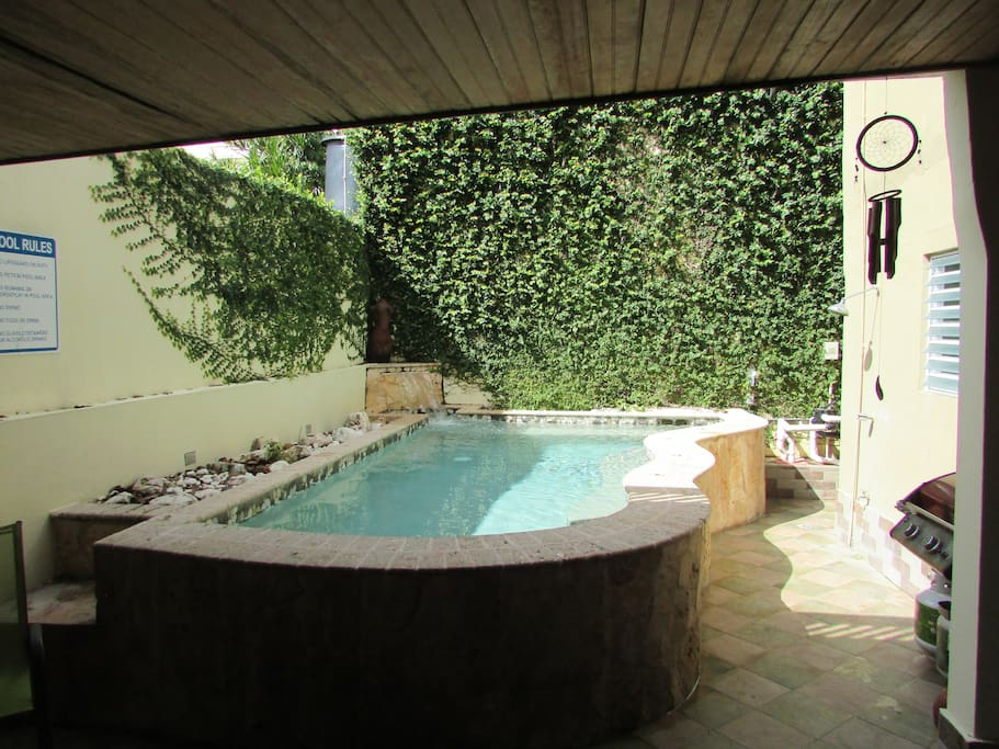pool area, shared with 1 more apartment in the 1st floor