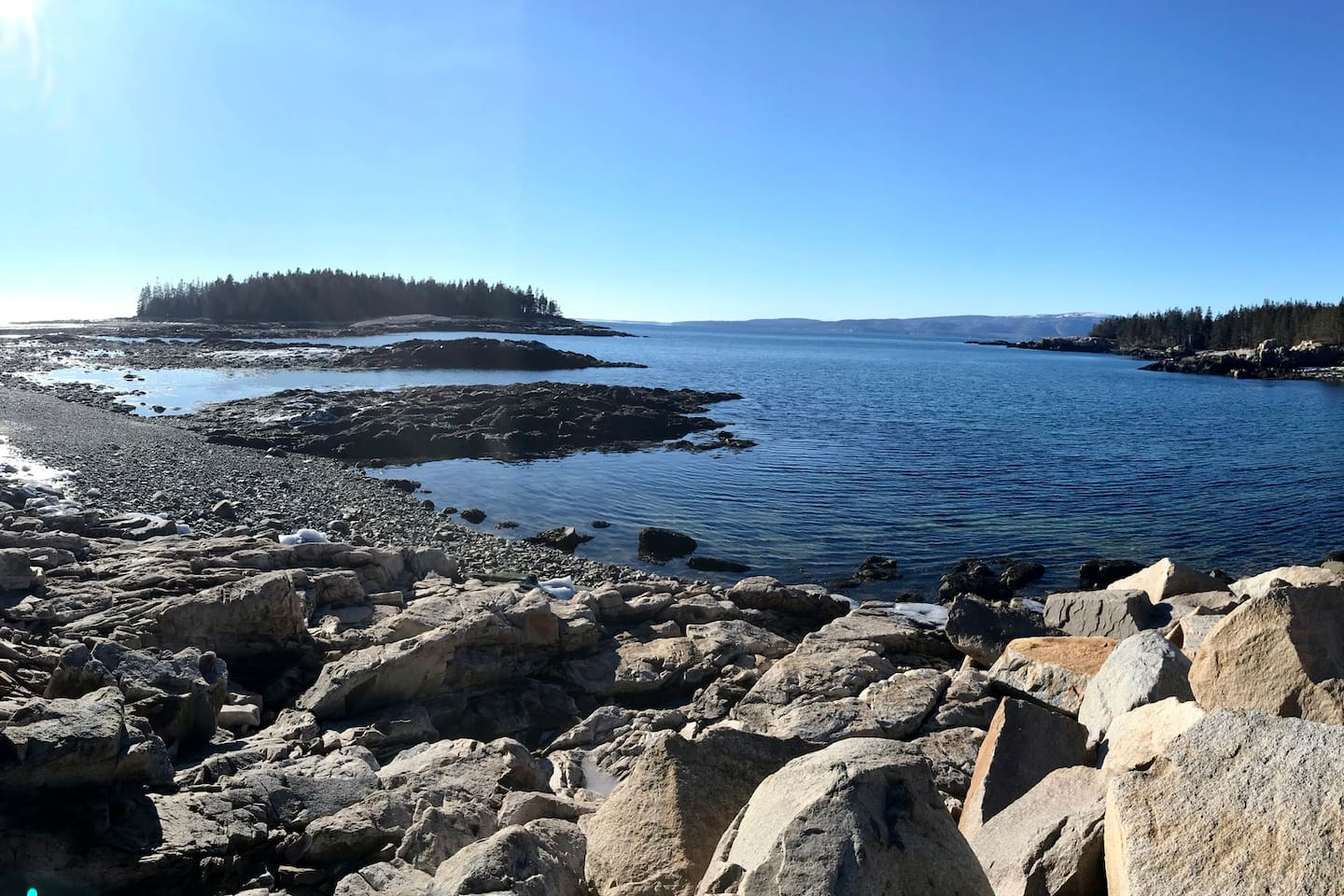 The beauty of Schoodic, part of Acadia National Park, 4 miles from Winter Harbor Village condo.