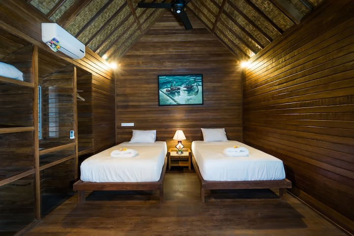 Twin Room@D'Lick Lembongan Coconut Wooden Villa2 - Nusapenida - Bungalow