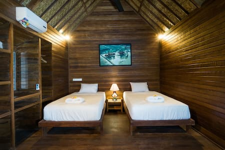 Twin Room@D'Lick Lembongan Coconut Wooden Villa2 - Bungalow
