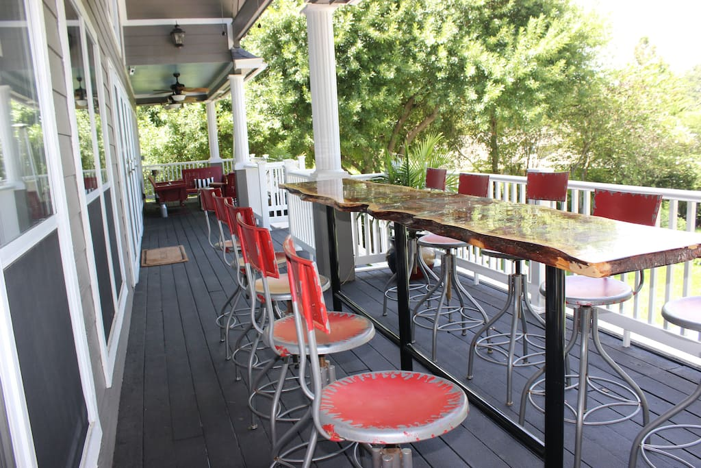 Main Level Porch Seats 10 for outdoor dining