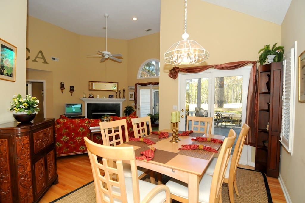 DINING ROOM is attached to living room  and easily seats six.