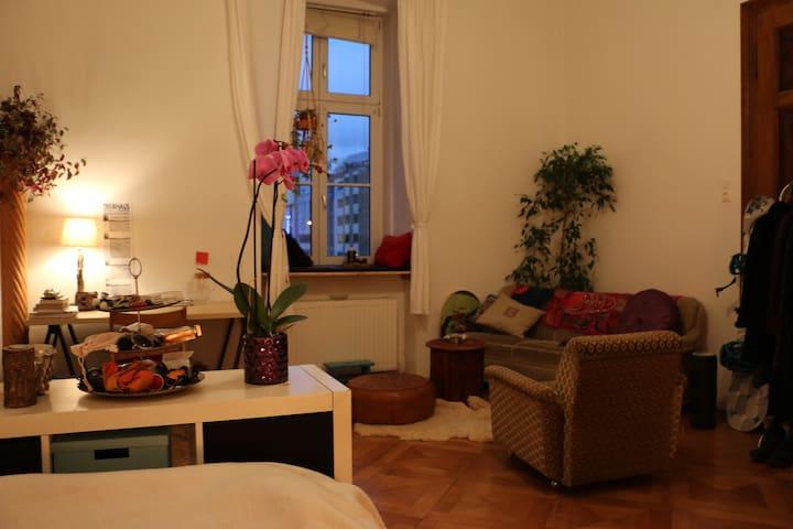 Wunderschönes Zimmer in zentraler Altbauwohnung.