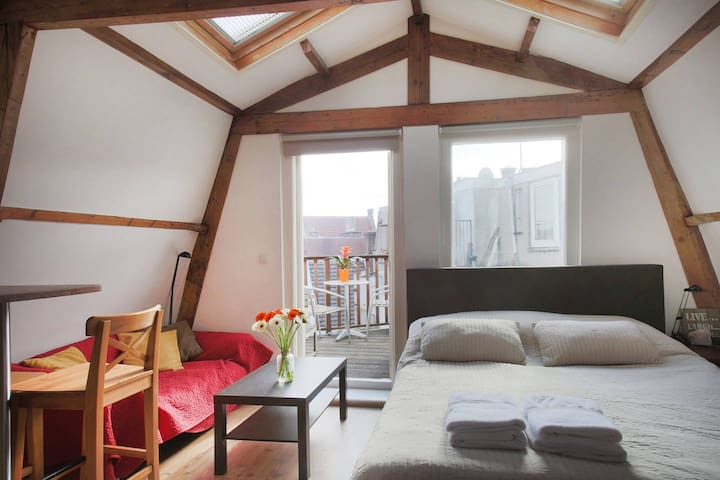 Cozy & bright studio with balcony in the Jordaan!