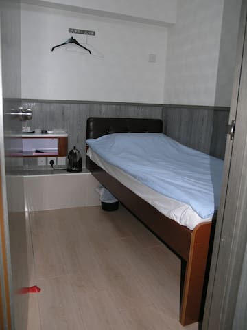 Budget room, 1single bed, private room & bath, TST