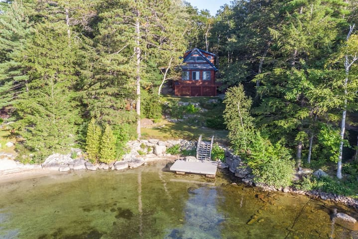 Picturesque Waterfront Lake Winnipesaukee home with sweeping views