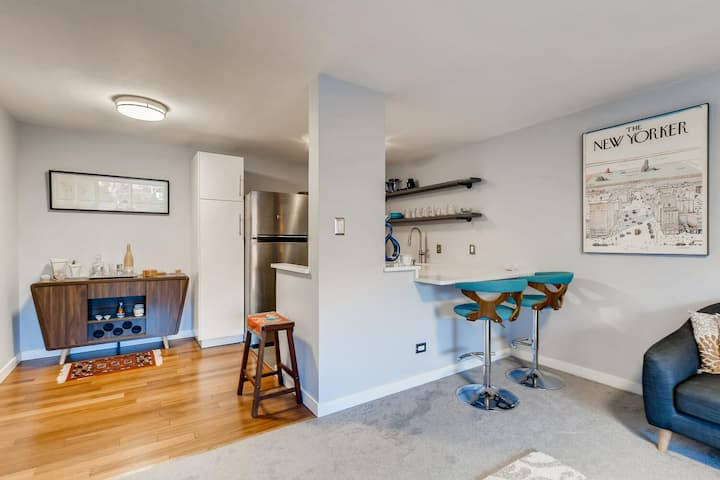 Mid-Mod, Well Located Condo in Cheesman, Denver CO