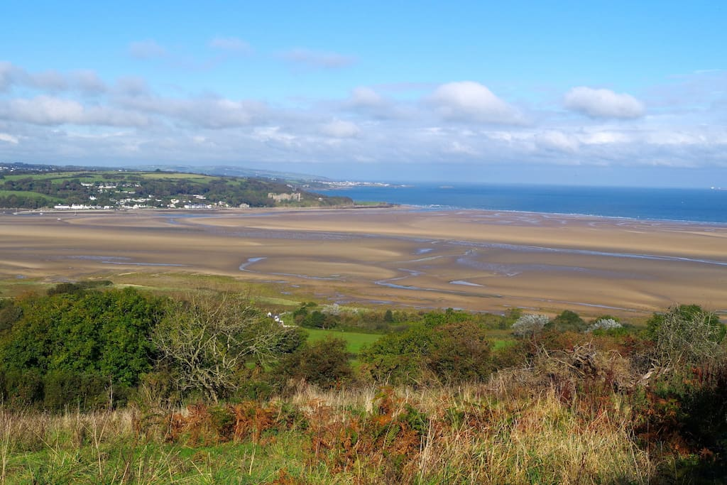 When the tide is out there is 10 square miles of sand to explore.........