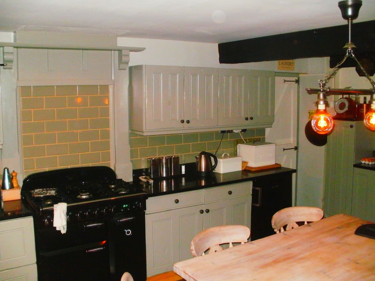 shared kitchen with dinning area