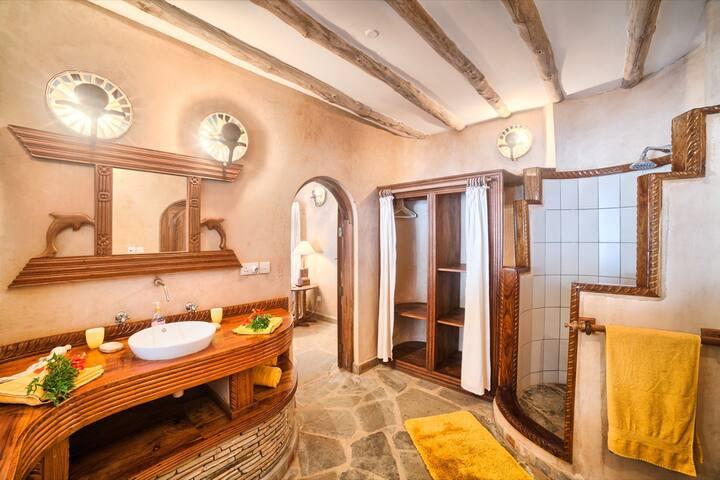 Gräumige Badezimmer