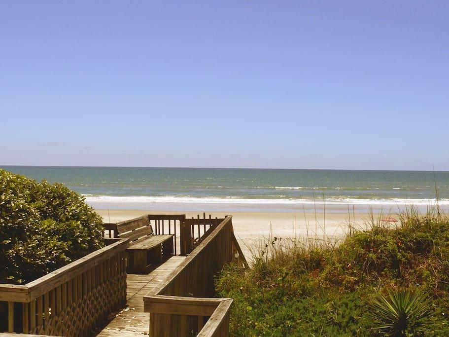 Private beach access and unbeatable views.