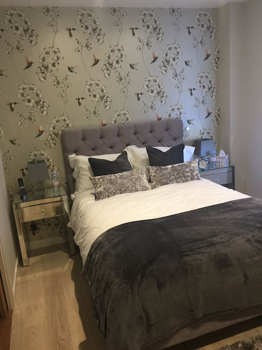 Master bedroom with high quality Vspring memory foam mattress. All hypoallergenic duvet ,pillows & bed linen from The White Company