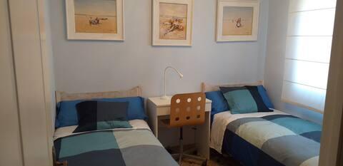 Habitación privada / 2 camas y unas vistas mágicas
