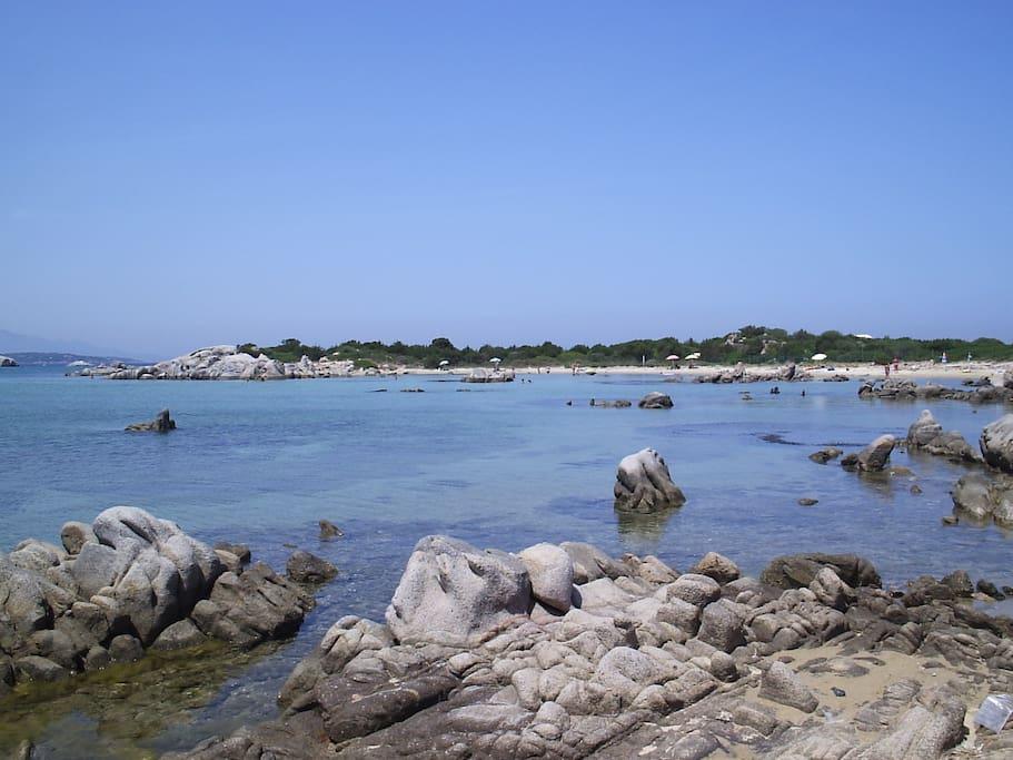 La spiaggia del villaggio