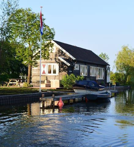 """Huis & privé eiland """"Tuutze"""" Loosdrechtse Plassen - Loosdrechtse Plassen - Blockhütte"""