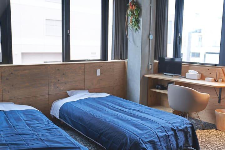 Twin Standard Room ◇Busouan Library & Hostel◇