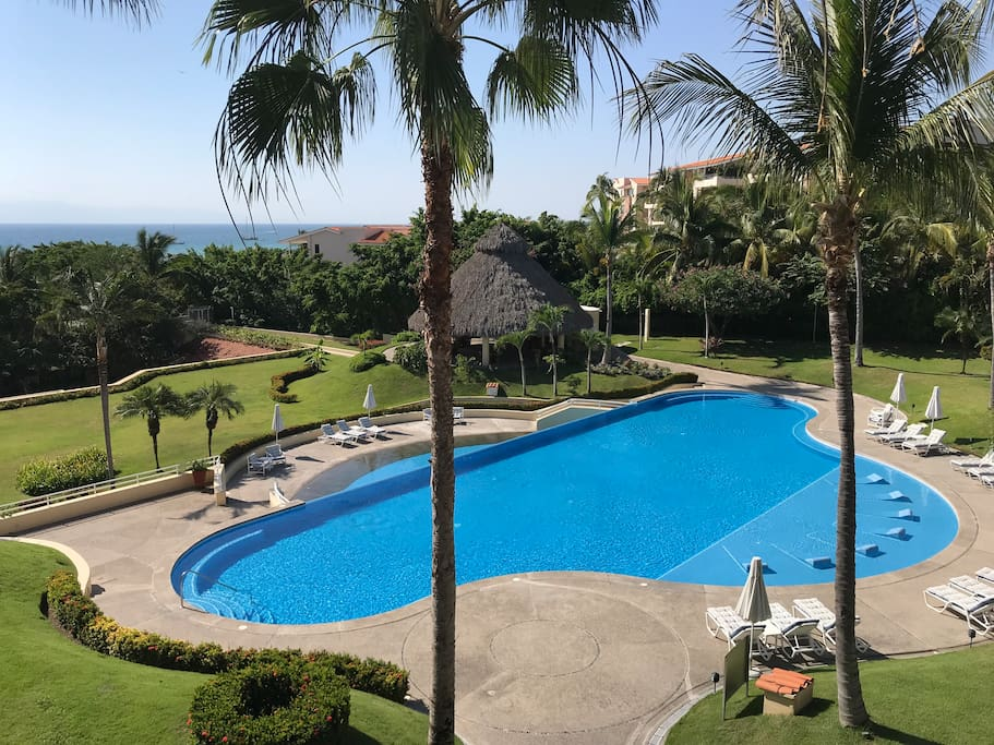 Pool and Ocean View from the balcony. We have the largest infinity edge pool in all of Punta Mita, and Direct Beach Access.
