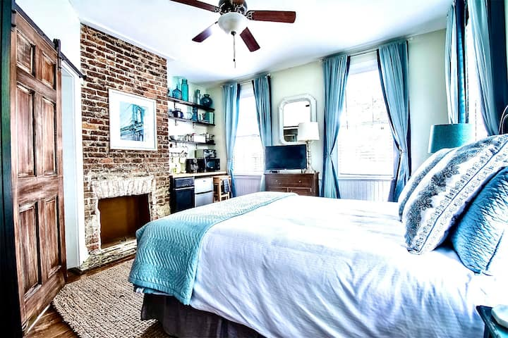 Authentic Charleston Studio with Exposed Brick