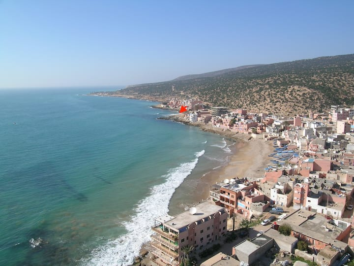 Taghazout Surfstay front-Beach