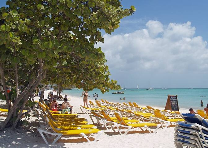 Moomba Beach.. where every guest receives free beach access & a free chais lounge for your entire stay.