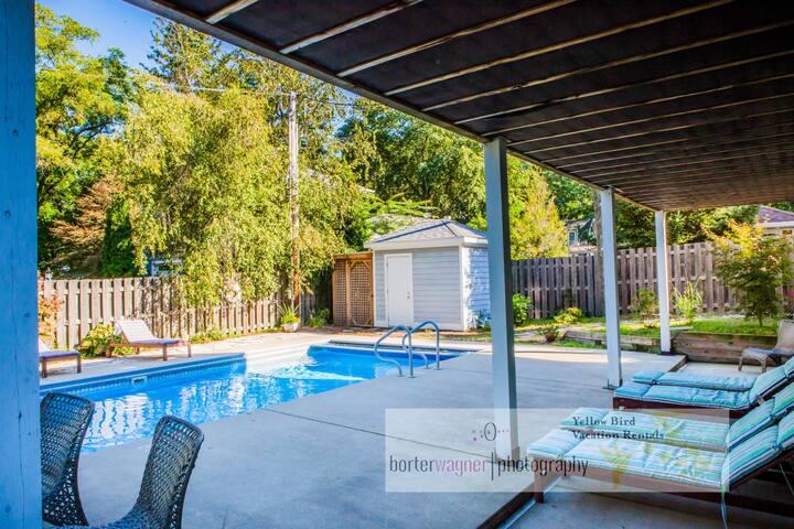 Dog-Friendly Home w/ Private Pool, Hot Tub & AC - 800 Feet to Association Beach!