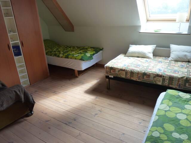 3-sengs værelse i naturskønne omgivelser.