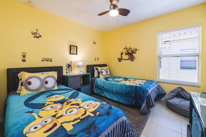 Kids Bedroom - Kids love Minions, who doesn't? Don't worry, they won't cause you TOO much trouble!