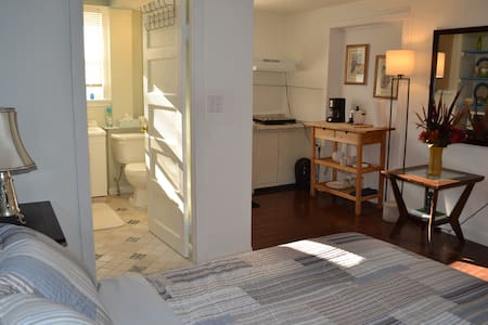 Studio with private entrance and quiet zone.