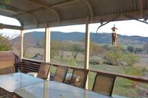 the View while relaxing on the veranda.