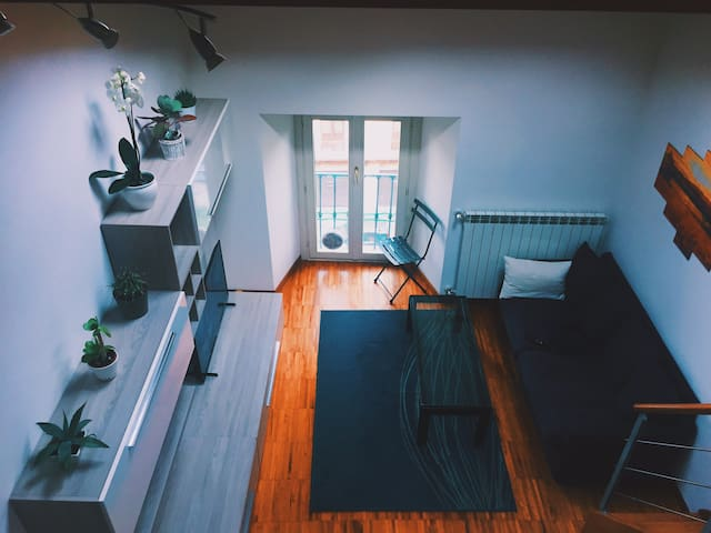 Topfloor cozy modern loft in the center of Brescia