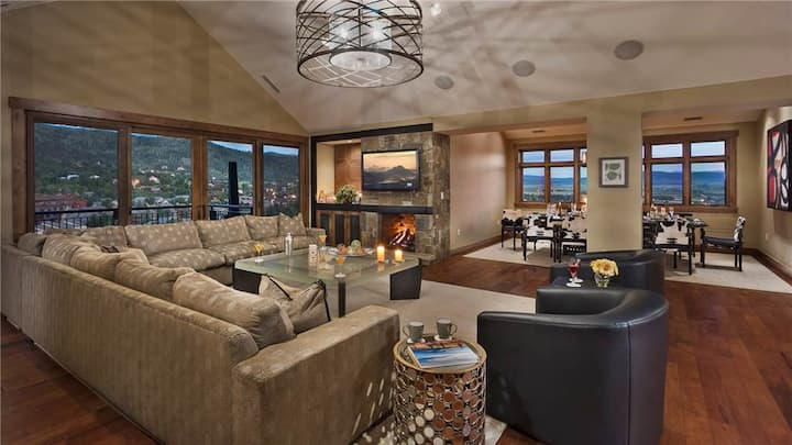 """One Steamboat Place: """"Flat Tops Peak"""" #701 Slopeside Penthouse"""