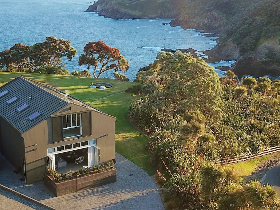 Te Wharf on the private peninsula with incredible ocean views