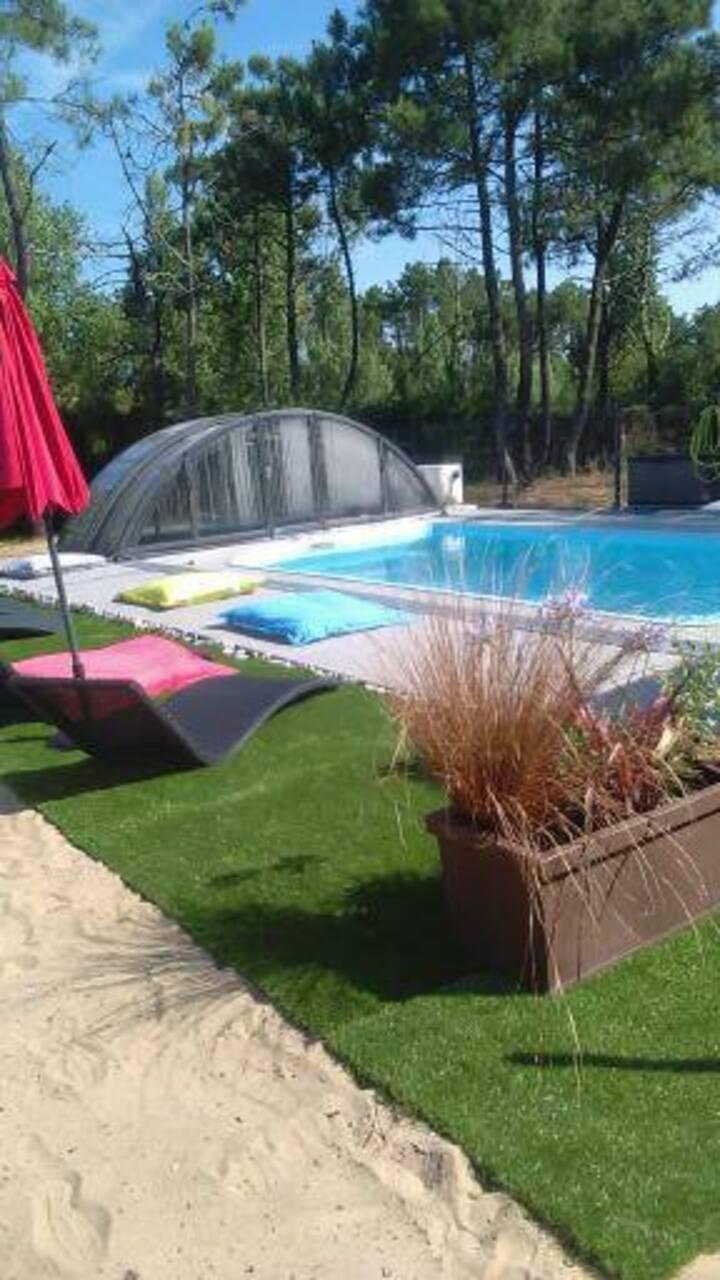 belle location, accès direct piscine, plage.