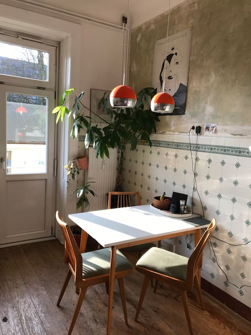 kitchen with small balcony
