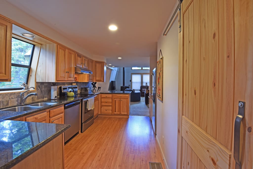 Enjoy the kitchen, with spacious granite countertops and stainless steel appliances