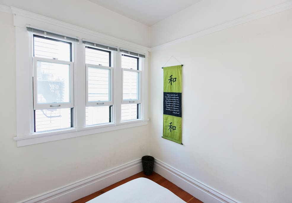 Bright and sunny! Double-hung windows for cool SF breezes.